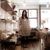 Image of 100% Cotton Knot-front Dress / 全棉前綁花邊娃娃長衫 ( code: 114 )