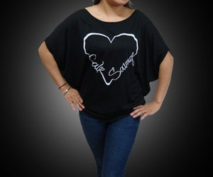 Image of Ladies - I Heart Cali Savage Flowy Top (Off the shoulder)