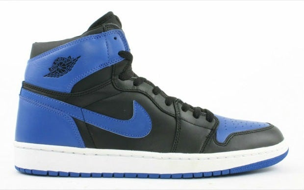 "Image of Air Jordan Retro I (1) HI ""Black/Royal Blue"" GS"