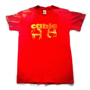 Image of Mens T-shirt. Red
