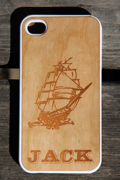Image of Personalized Real Wood iPhone Case