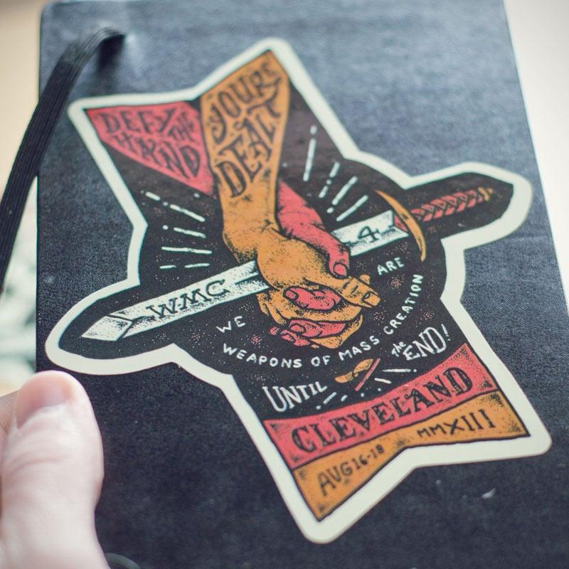 Image of WMC Fest 4 Hands Sticker