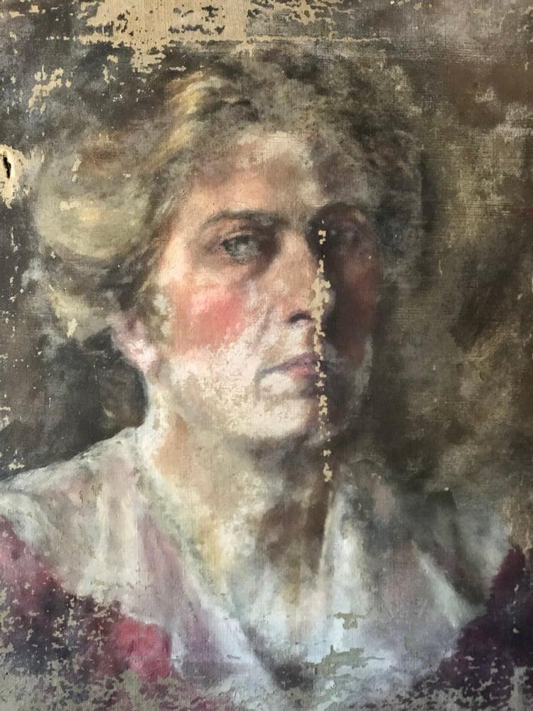 Image of Old oil portrait
