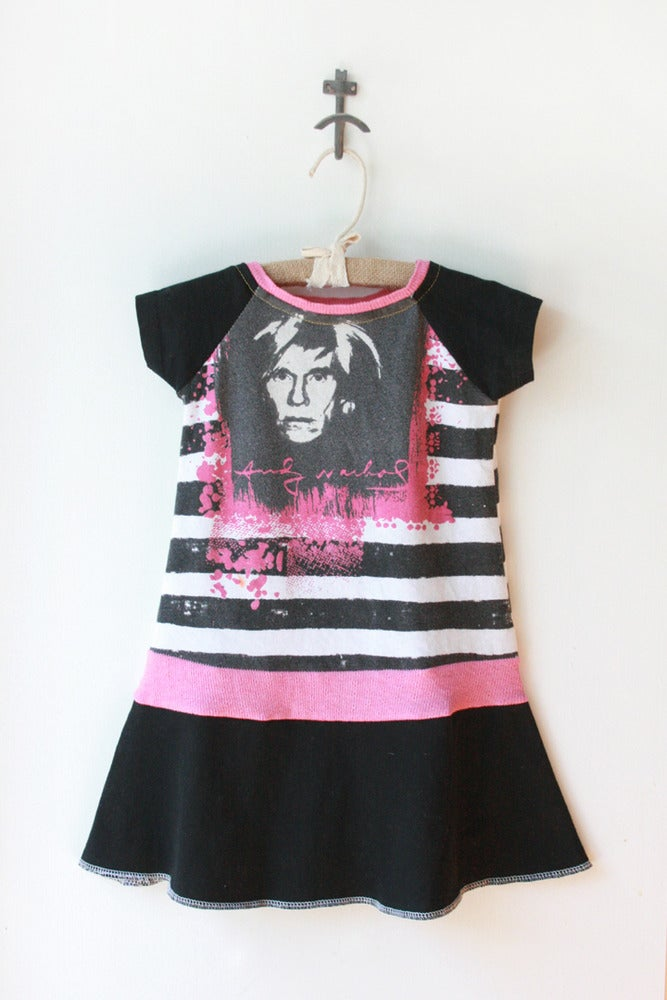 Image of 2/3T (re)DRESS *Andy Warhol* Black/Pink/White