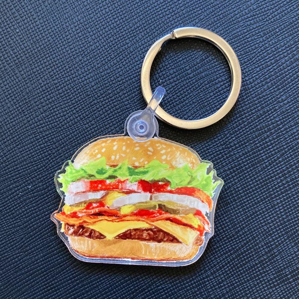 Cheeseburger Acrylic Keychain