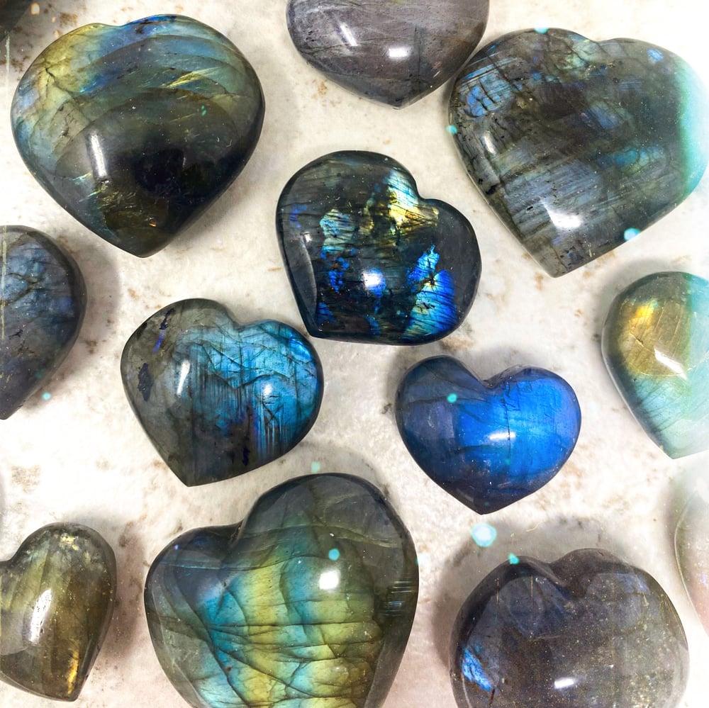 Image of Labradorite Heart