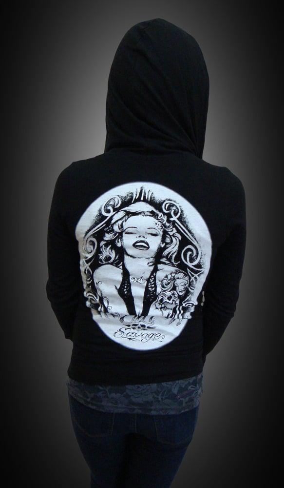 Image of Ladies - Marilyn zip up hoody