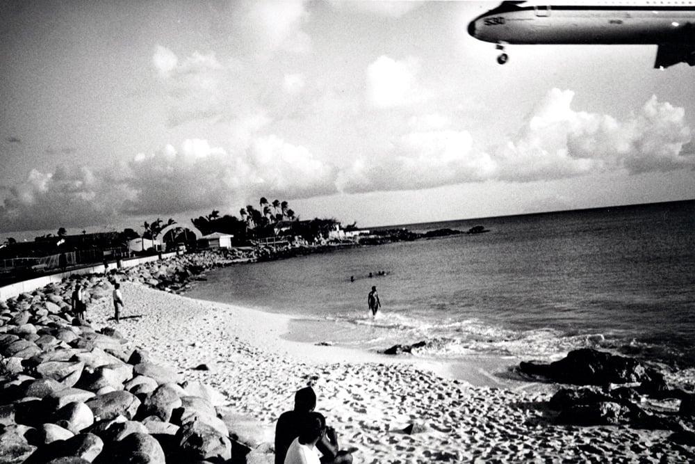 Image of Plane Down, St. Maarten, 1996