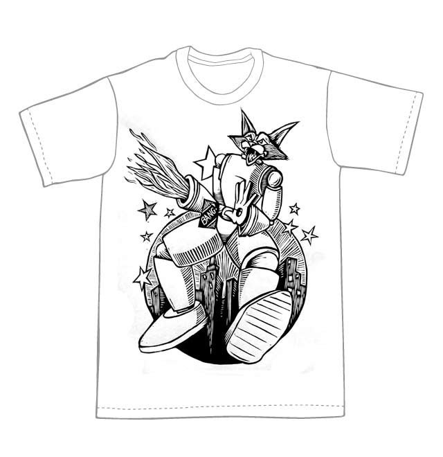Cat Robot T-Shirt (B2) **FREE SHIPPING**