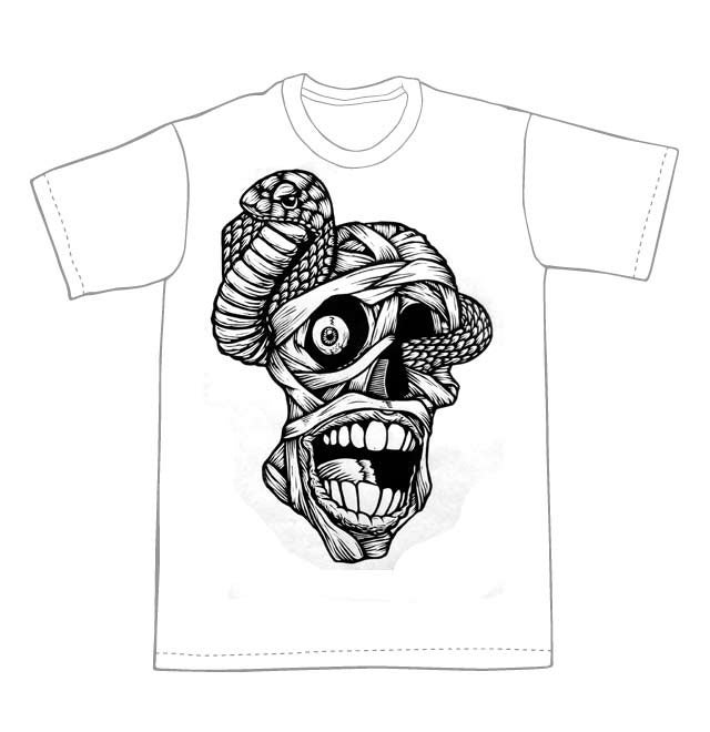 Mummy Head T-Shirt (B1) **FREE SHIPPING**