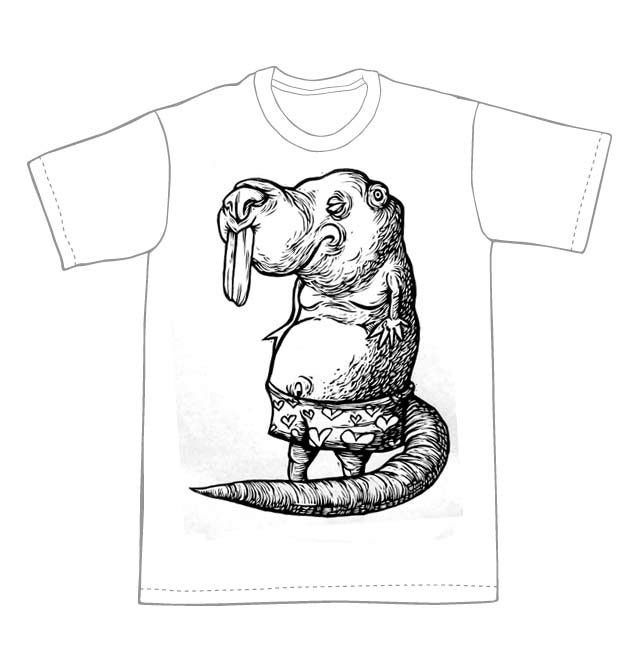Naked Mole Rat T-Shirt (B1) **FREE SHIPPING**