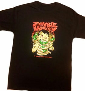 Image of ZOMBIE MONEY TEE (BLACK/RED)
