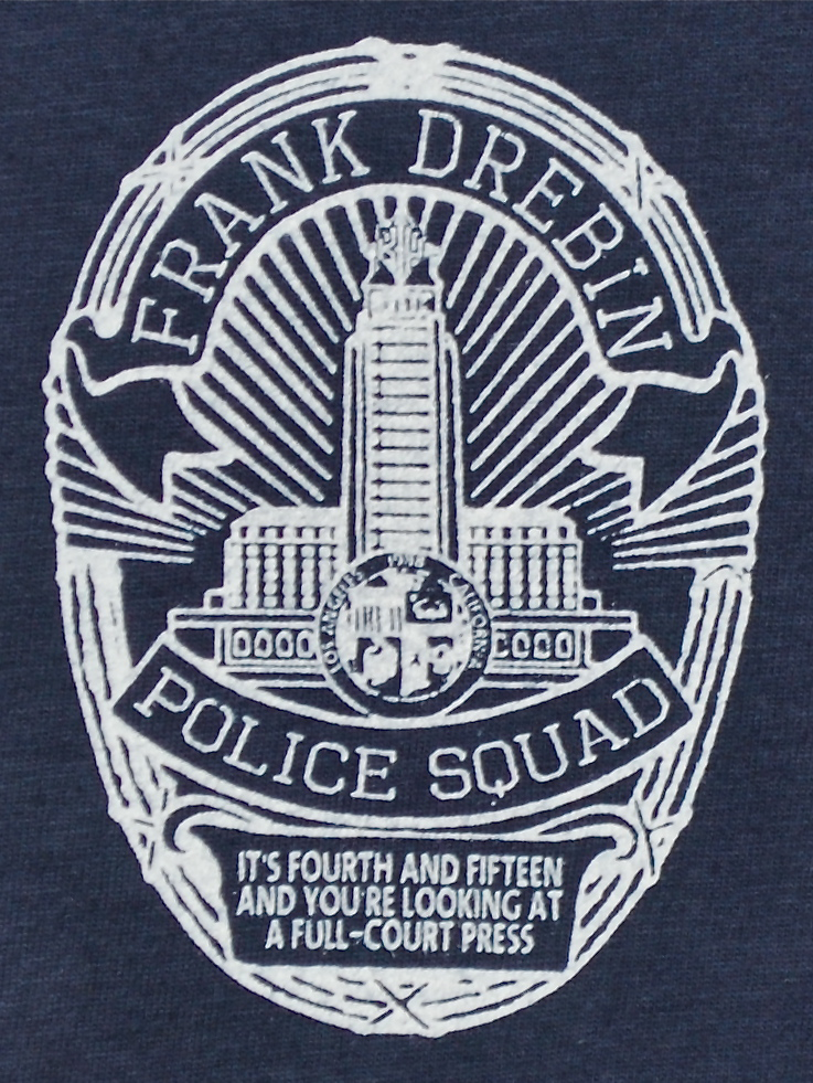 "Image of ""Frank Drebin, Police Squad"" Leslie Nielson Naked Gun tee"