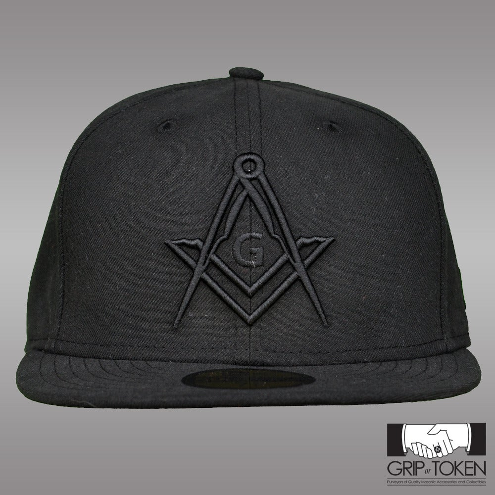 Image of New Era 5950 Fitted Cap - All Black - New Logo