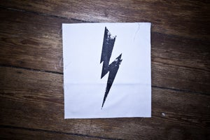 "Image of Patch ""FLASH"" white"