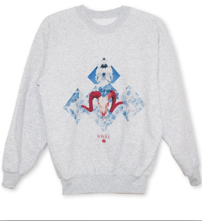 Image of Crewneck 'Red Goat'