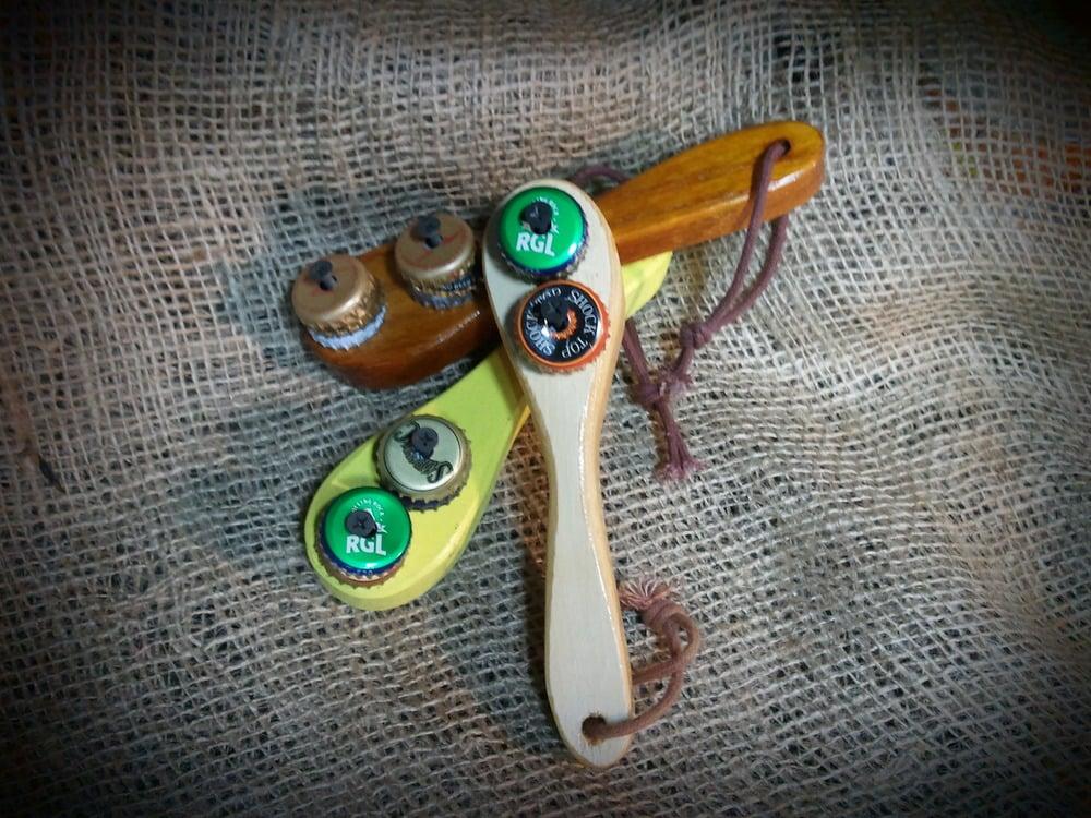 Image of Beer Cap Rattlers!