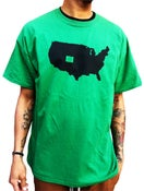 """Image of The Denver Shop """"Our State"""" Tee  Green"""