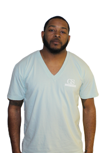 Image of GSI Original Logo Deep V-Neck (Mint/Wht)