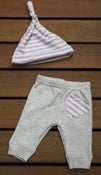 Image of Newborn Upcycled Pants and Hat Set
