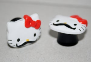 Image of 14mm Hello Kitty Mustache Tunnels