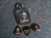 Image of Keyring, Button Badge, Guitar Pick