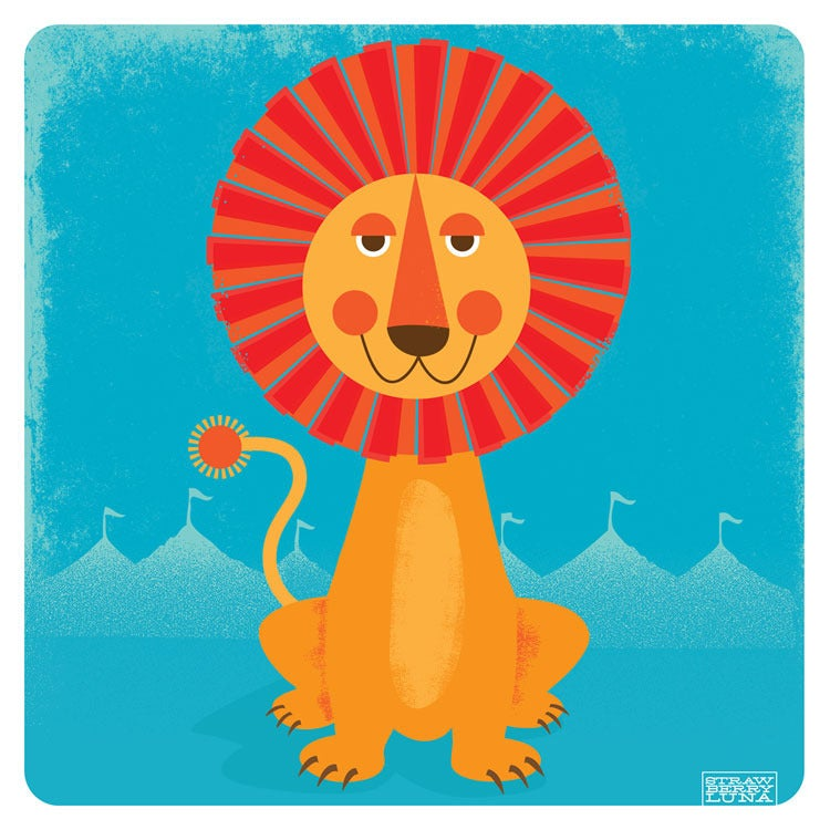 Image of Sun Lion Modern Nursery Art Print