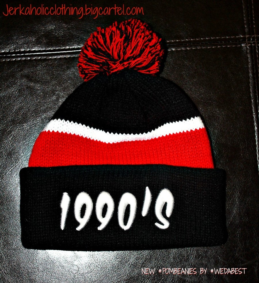 Image of NEW RED & BLACK 1990's #POMBEANIES