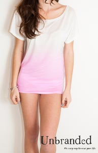 Image of Scooped Neck t-shirt Pink