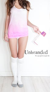 Image of Tunic Vest Ombre White/Pink