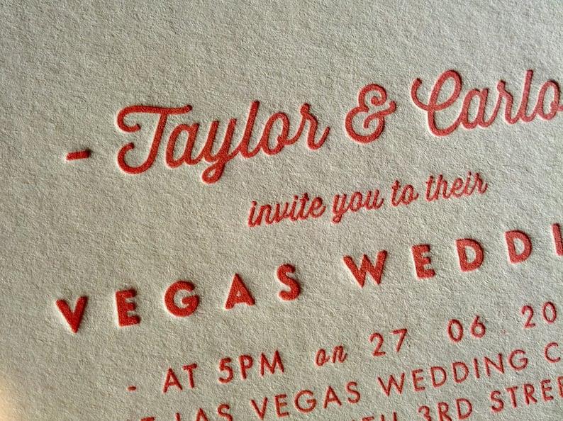 Image of Letterpress Printed Wedding Invitations - 'Pearl'