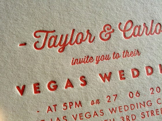 Image of Letterpress Printed Wedding Invitations - 'Pearl', set of 65