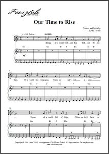 Image of Our Time to Rise (Digital Sheet Music)