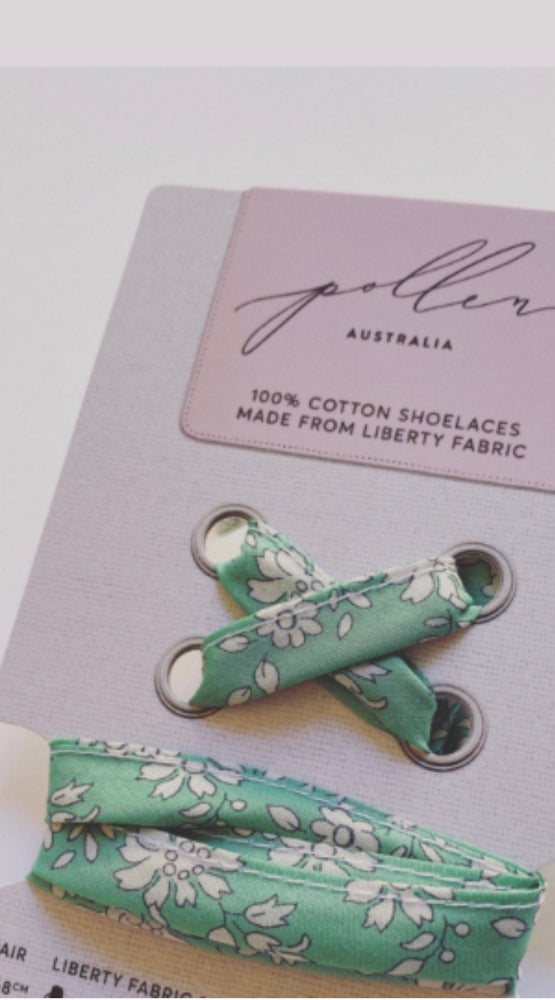 Image of Liberty Print Shoelaces in Capel Mint (Large)