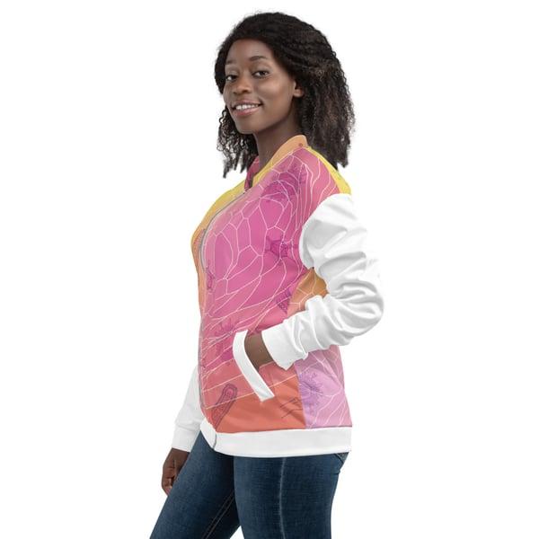 Image of Pink Virus Unisex Bomber Jacket