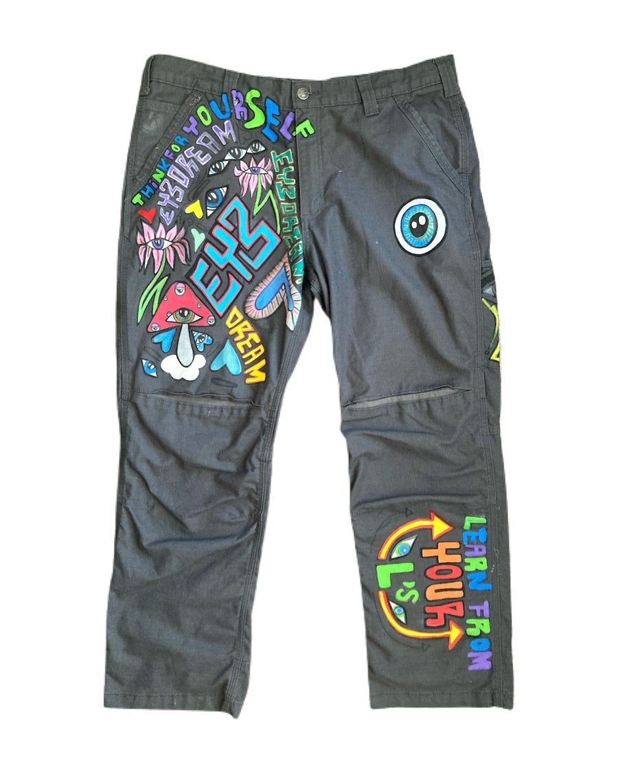 """Image of """"Think for Yourself"""" 1 of 1 Carhartt Work Pants (36 x 30)"""