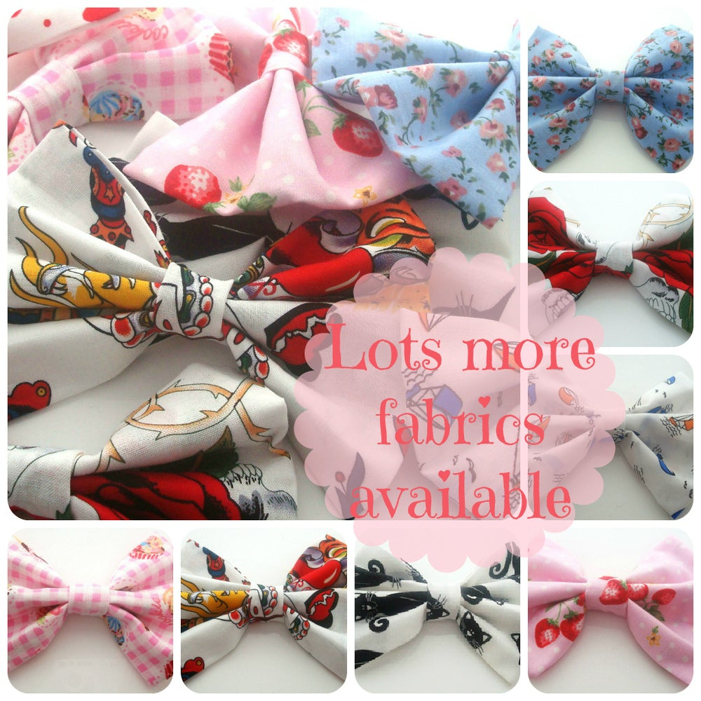 Image of Hair Bow Clip - DOZENS OF FABRICS AVAILABLE