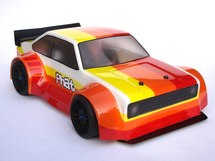 Image of Phat Bodies - Ford Escort MK2 Bodyshell for Losi Mini 8ight, Associated Reflex 14B, LC Racing EMB-1