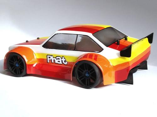 Image of Phat Bodies - Ford Escort MK2 Bodyshell for Losi Mini 8ight, Associated Reflex 14B, LC Racing EMB-1