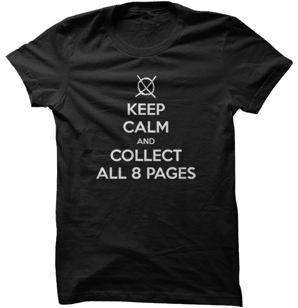 Keep Calm and Collect All 8 Pages (Slender Man) - Black