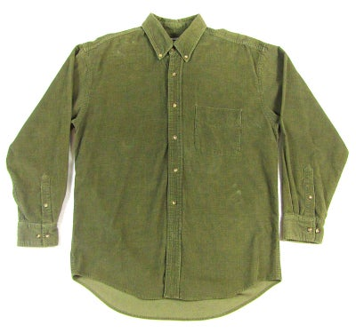 Image of Olive Corduroy L/S Button-Up