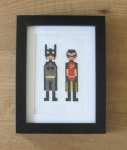 Image of Batman and Robin Cross Stitch