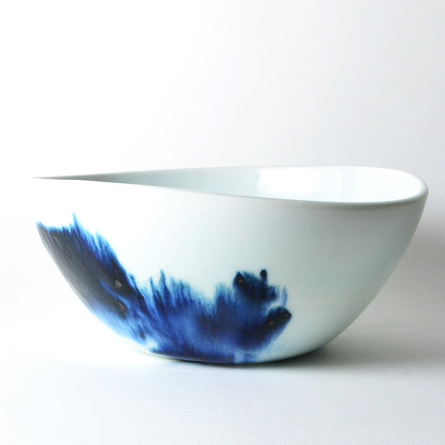 Image of large blue and white bowl