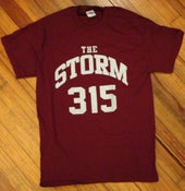 "Image of ""315"" T-Shirt (maroon)"