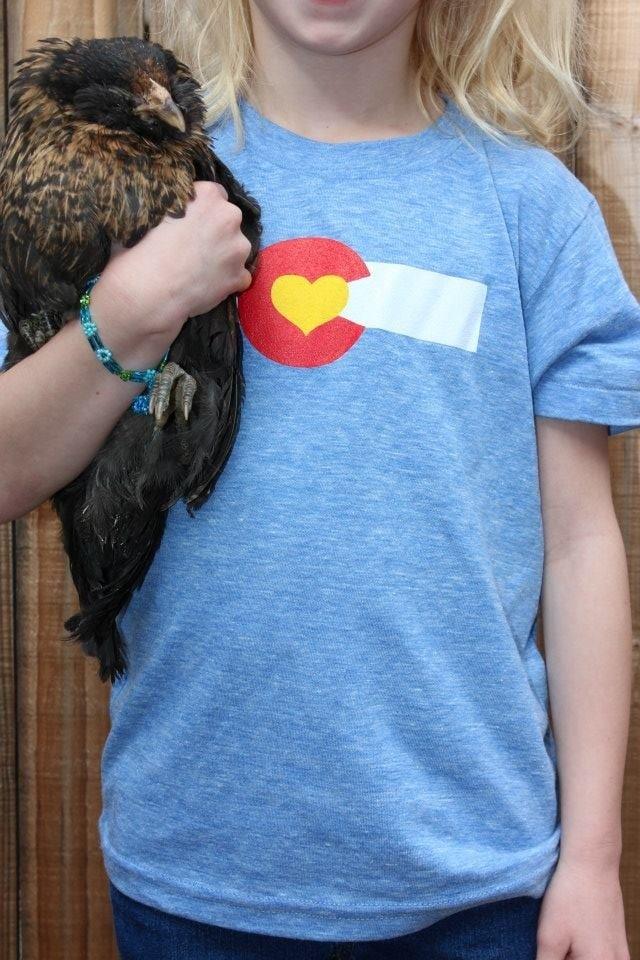 Image of Colorado Love Kid's Tee- Athletic Blue