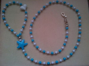 Image of Chunky Crystal beaded dog lead.