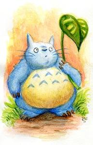 Image of Totoro - Original Watercolor Painting