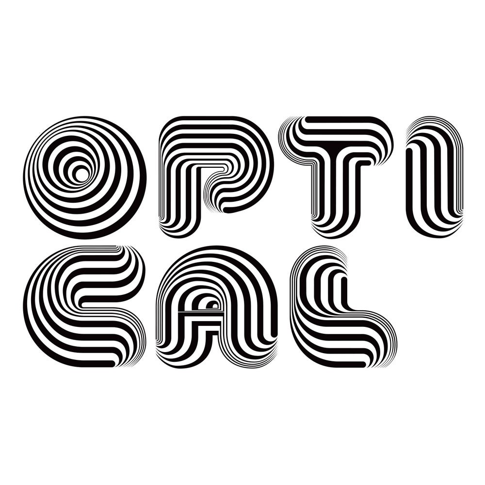 Image of Optical Dillusion Font (handset EPS file)