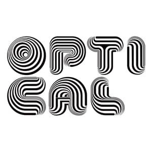 Image of Optical Dillusion Font (handset EPS file)