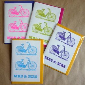 Image of Bicycle wedding card